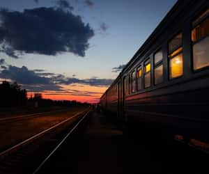 nightfall and train image