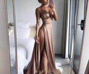 champagne, dress, and gold image