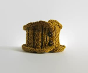 cable knit, etsy, and mustard yellow image