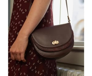 classic, satchel bag, and floral dress image