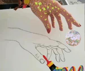 arcoiris, gif, and mano image