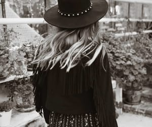 black and white, western style, and Cowgirl image