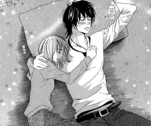couple, monochrome, and manga love image