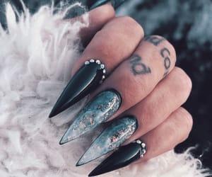 nail inspo, arcylic nails, and girly inspo image