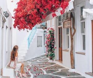 girl, Greece, and travel image