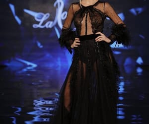 blackdress, dress, and glamour image