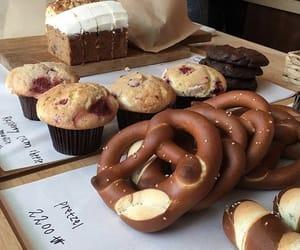 food, pretzel, and delicious image