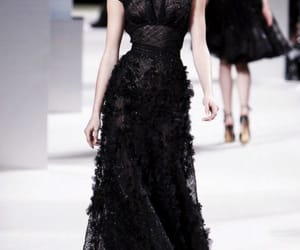 black dress, Couture, and dress image