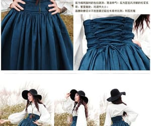 blue, prety, and fashion image