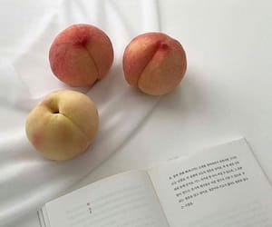 aesthetic, peach, and white image