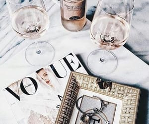 vogue, drink, and wine image