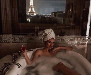 paris, bathroom, and bubble bath image