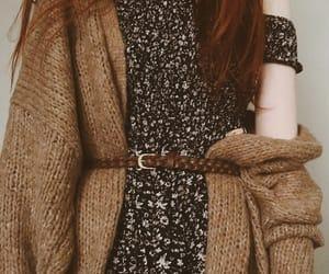 dress, ginger, and girl image