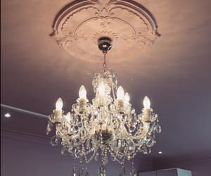 bedroom, chandelier, and home image