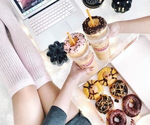 coffee, dessert, and donuts image