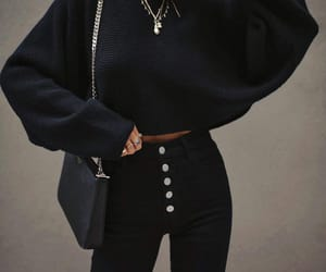 blogger, all black, and fashion image