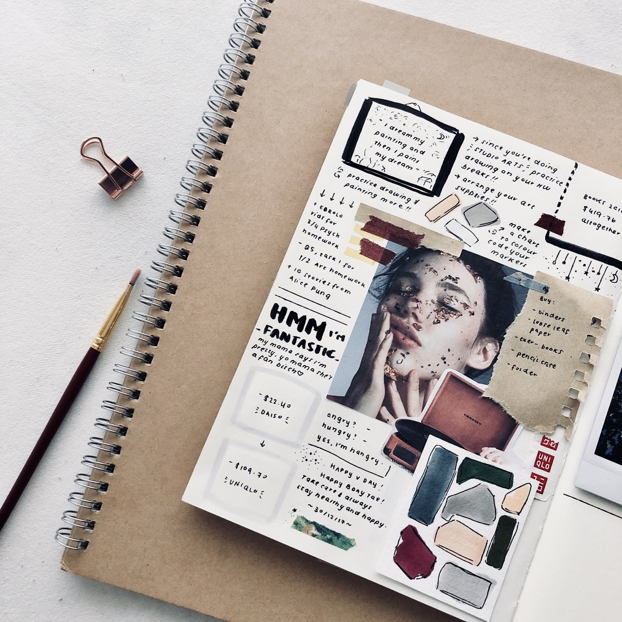 goals, journal, and bullet journal image