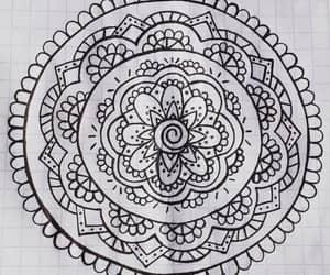 art, mandalas, and black&white image