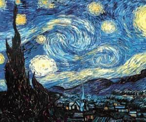 art, night, and vincent van gogh image
