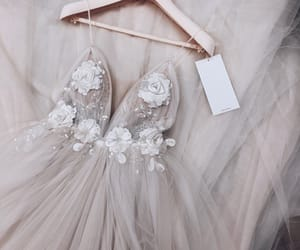 dress, wedding, and clothes image