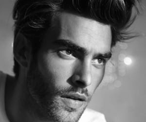 beauty, male model, and black and white image
