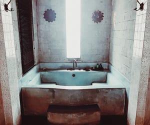 bali, bathroom, and bathtube image