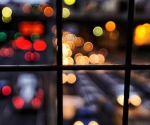 city, lights, and window image