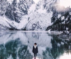 model, photography, and mountains image