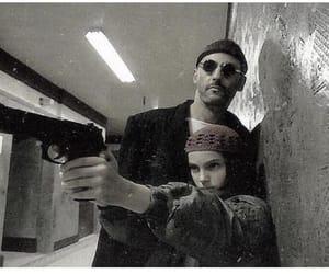 leon, natalie portman, and gun image