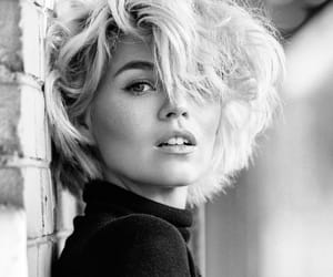 Beautiful Girls, black and white, and face image