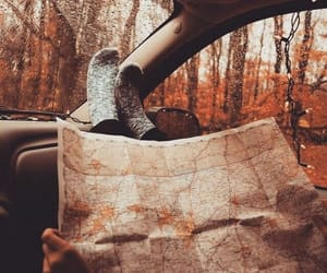 autumn, map, and love image