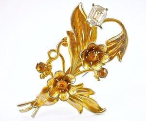 Art Nouveau, etsy, and rhinestone brooch image