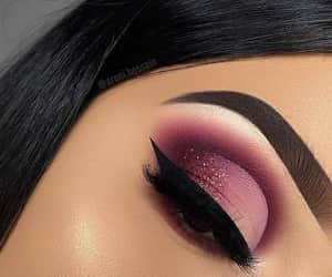 eyes make up, glitter, and make up image