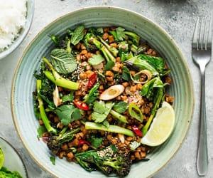 food, recipe, and vegan recipes image