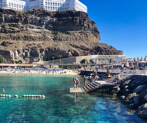 beach, water, and gran canaria image