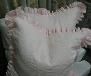 etsy, pink bed skirt, and little girl bedding image