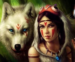 native and wolf image