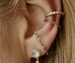 earrings, fashion, and girls image