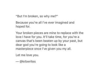 beautiful, broken heart, and broken image
