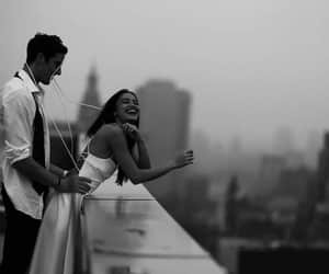 love, couple, and b&w image