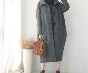 winter coat, women coat, and winter wool coat image