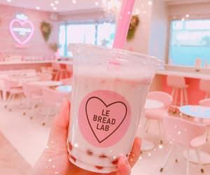 kawaii, pink, and pink drink image