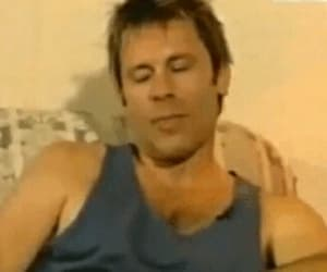Bruce Dickinson, iron maiden, and gif image