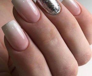 nails, natural, and uñas image