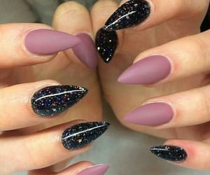nails, matte, and style image