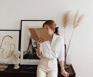 book, art, and outfit image