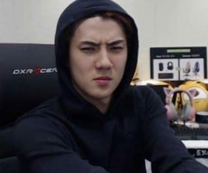 exo, reaction, and sehun image
