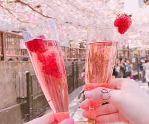 cherry blossoms, kawaii, and pink image