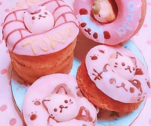 donut, doughnut, and kawaii image