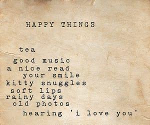 happy, quotes, and tea image